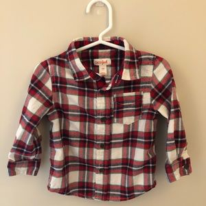 Cat and Jack Christmas flannel 18m